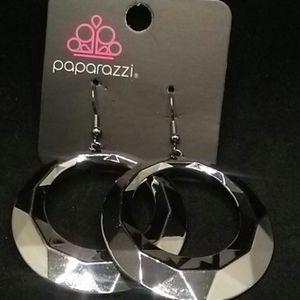 4/$15 Paparazzi earrings/ hoop/ gunmetal